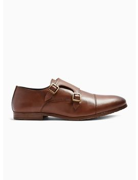 Tan Leather Ollie Monk Shoes by Topman
