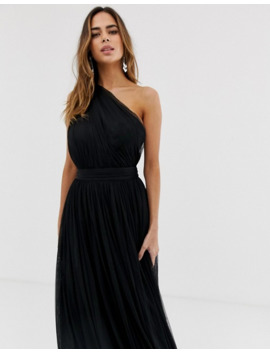 Asos – Tüll Maxikleid Mit One Shoulder Träger by Asos