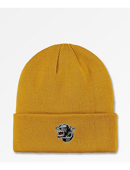 The Forecast Agency Panther Mustard Beanie by The Forecast Agency