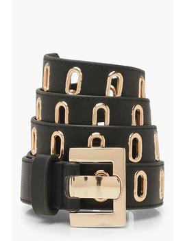 Gold Buckle Waist Belt by Boohoo