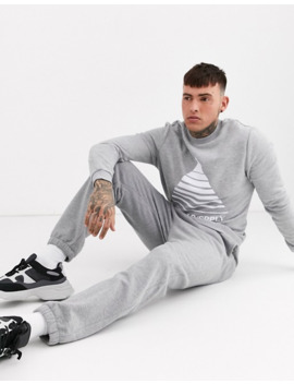 Asos Design Sweatshirt In Grey With White Triangle Print by Asos Design