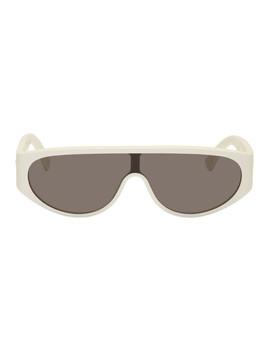 White Mask Sunglasses by Bottega Veneta