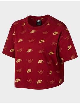 Nike Sportswear Women's Short Sleeve Crop Top (Plus Size) by Jd Sports