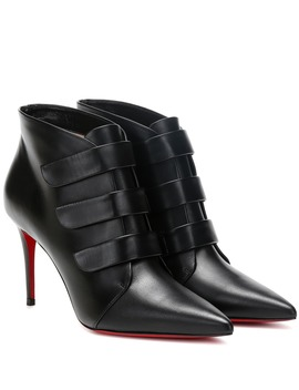 Triniboot 85 Leather Ankle Boots by Christian Louboutin