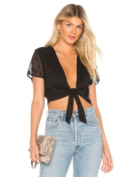 Aylin Star Embellished Tie Crop Top(Revolve) by By The Way