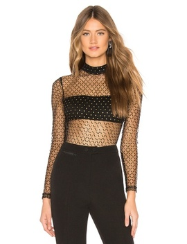 Callie Dotted Mesh Bodysuit(Revolve) by By The Way