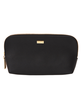 Leather Curve Pouch Jet Black (Gold): Signature Edition by Kikki.K