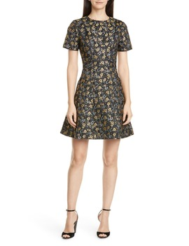 Divwine Floral Jacquard Fit & Flare Dress by Ted Baker London