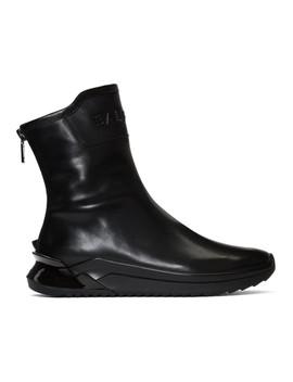 Black Glove High Top Sneakers by Balmain