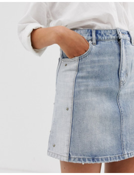 Sass &Amp; Bide Diamante Denim Mini Skirt by Sass & Bide