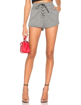 Jazmin Houndstooth Shorts(Revolve) by By The Way