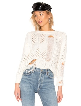Grayson Distressed Sweater(Revolve) by By The Way