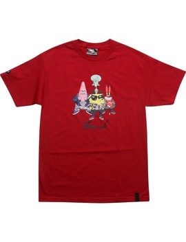 Bait X Sponge Bob Group Tee (Cardinal Red) by Bait