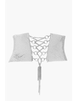 Chainmail Tie Detail Waist Belt by Boohoo