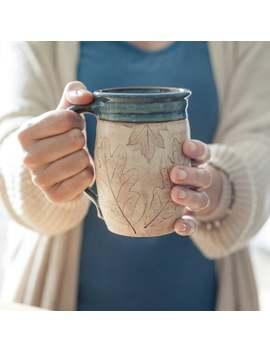 Coffee Lover Pottery Mug   Handmade Mug   Gift For Her   Gift For Him by Etsy