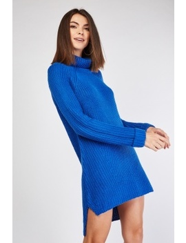 Chunky Roll Neck Jumper Dress by Everything5 Pounds