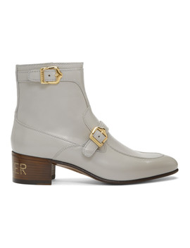 Grey Ebal Boots by Gucci
