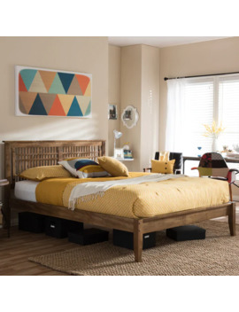 Contemporary Wood Platform Bed By Baxton Studio   King by Baxton Studio
