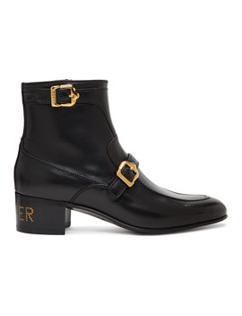 Black Ebal Boots by Gucci