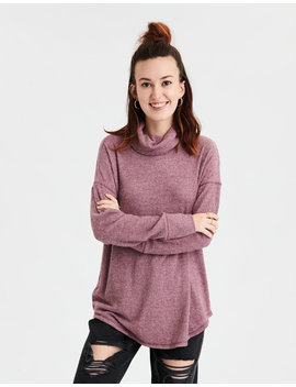 Ae Soft Plush Turtleneck Long Sleeve T Shirt by American Eagle Outfitters
