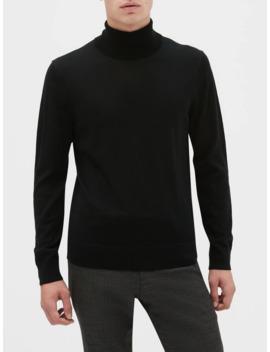 Washable Merino Wool Turtleneck Sweater by Banana Republic Factory