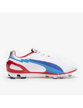 Puma Evo Speed 3 Fg   Bianco/Limoges/Rosso by Pro Direct Soccer