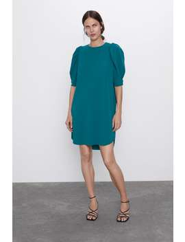 Dress With Short Full Bodied Sleeves by Zara