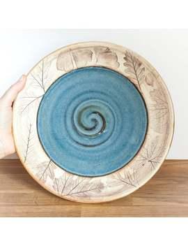 Handmade Dinner Plate   Woodland Or Beachcomber by Etsy