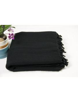 Yak Wool Blanket Black Soft Throws Scarf Large Elegant Travel Size Shawl Light Weight Wrap Himalayas Nepal by Etsy