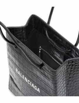 Shopping Xxs Croc Effect Tote by Balenciaga