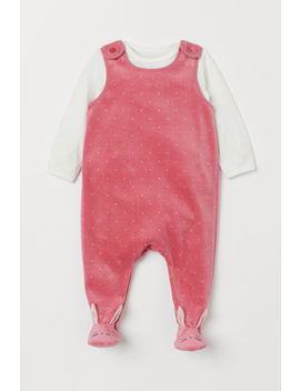 Top And Velour Romper Suit by H&M