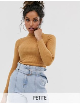 Brave Soul Petite Rigby High Neck Jumper by Asos