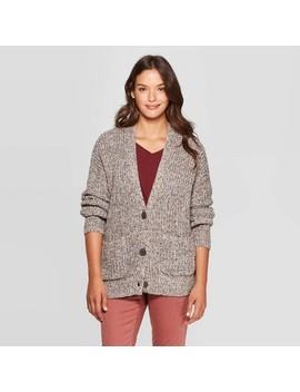 Women's Long Sleeve V Neck Cardigan Sweater   Universal Thread™ Gray by Universal Thread