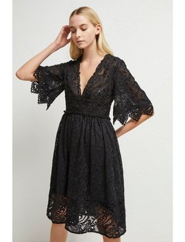 French Connection Black Alle Sandra Lace Dress by Next