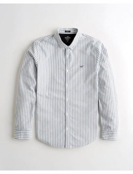 Stretch Oxford Slim Fit Shirt by Hollister
