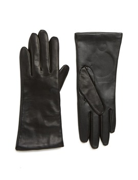 Cashmere Lined Leather Touchscreen Gloves by Nordstrom
