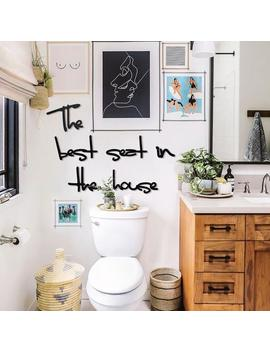 The Best Seat In The House Metal Wall Art , Funny Bathroom Wall Decor by Etsy