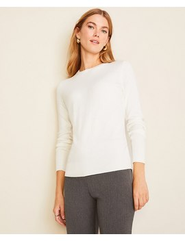 Petite Crew Neck Sweater by Ann Taylor