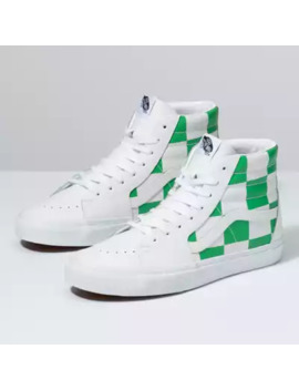 Leather Check Sk8 Hi by Vans