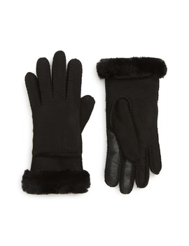 Seamed Touchscreen Compatible Gloves With Genuine Shearling Trim by Ugg