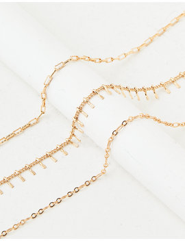 Aeo Gold Necklace 3 Pack by American Eagle Outfitters