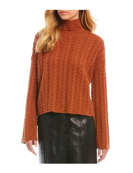 Luxury Collection Chloe Cashmere Cable Knit Sweater by Antonio Melani