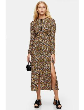 Vintage Floral Piped Midi Dress by Topshop