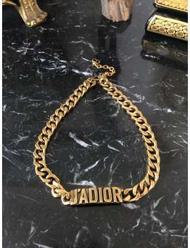 Christian Dior J'adior Choker Necklace Gold Aged Metal by Etsy