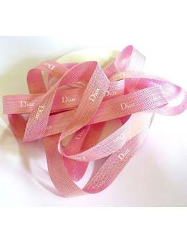 Dior Ribbon, 1 Meter (1.09 Yard) Authentic Dior Glossy Ribbon 20 Mm, Scrapbooking, Pink Wedding Ribbon, Gift Wrapping, Luxury Crafting by Etsy