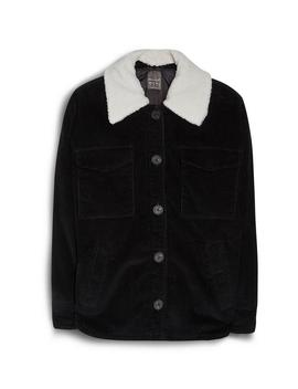 Black Borg Collar Jacket by Primark