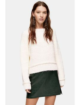 Knitted Boucle Jumper by Topshop