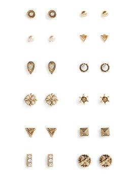 Mixed Earring 12 Pk by Primark