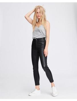 Nina High Rise Ankle Skinny Leather Pant by Rag & Bone