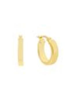Thick Wide Hoop Earring by Adina's Jewels